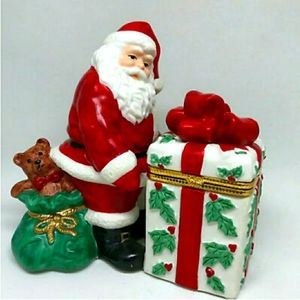 Christmas Santa Claus PartyLite Candle Holder